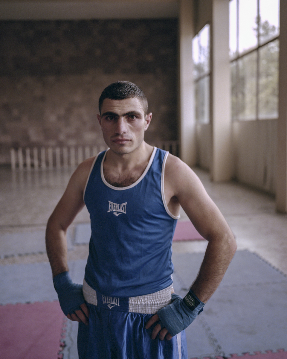A boxer after losing a match at the annually held National Box Championship in Dynamo Sport Club.