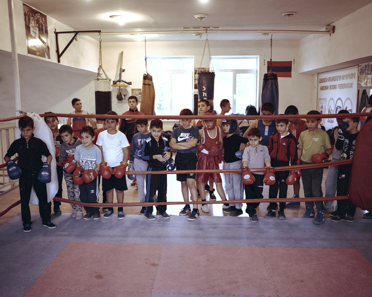 Children usually start training at an early age and are very enthusiastic while listening to their coach. The village Ararat is quite famous of its box club.
