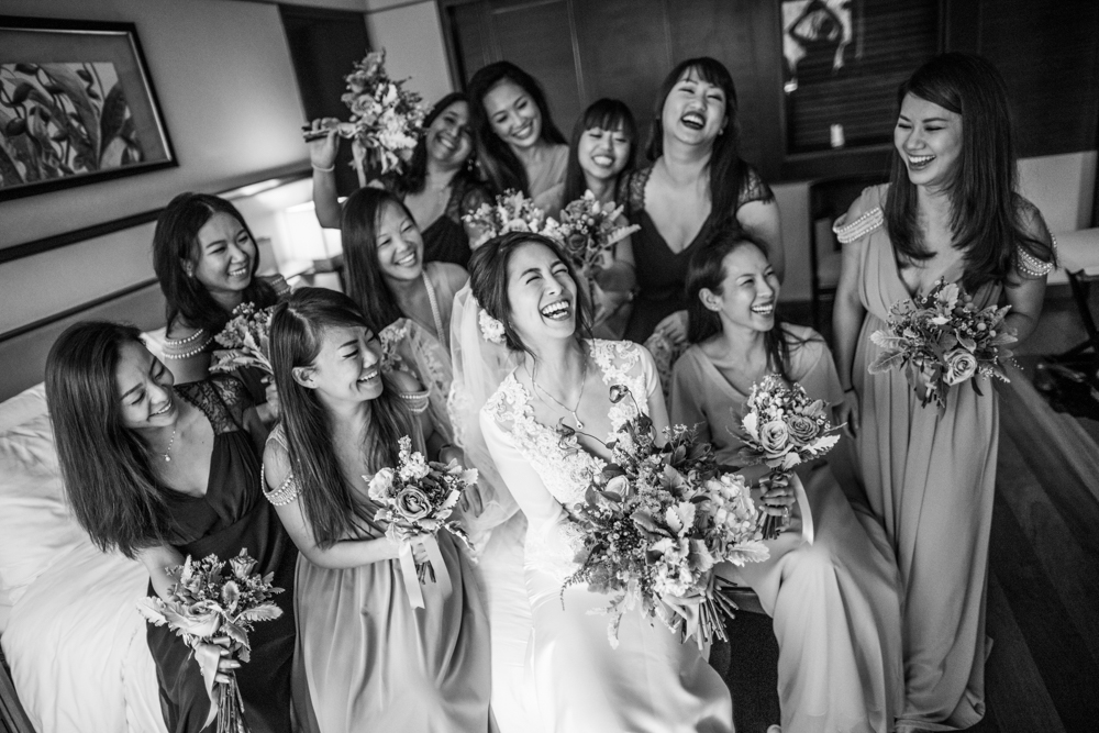 Lots of laughs, lots of brides maids…. lots!