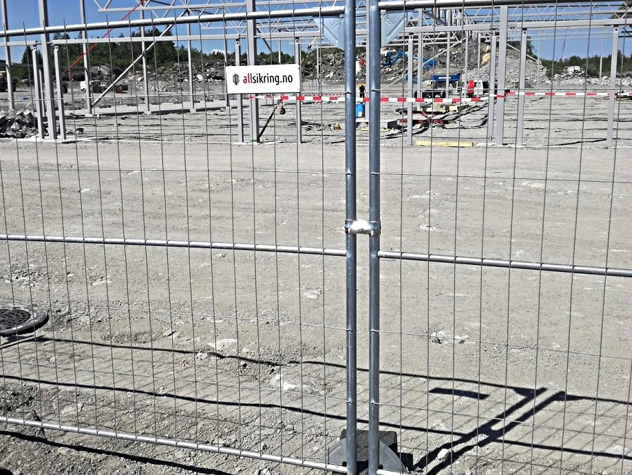 Anleggsikring - Byggegjerder, porter, rotasjonsgrinder og adgangskontroll til byggeplass
