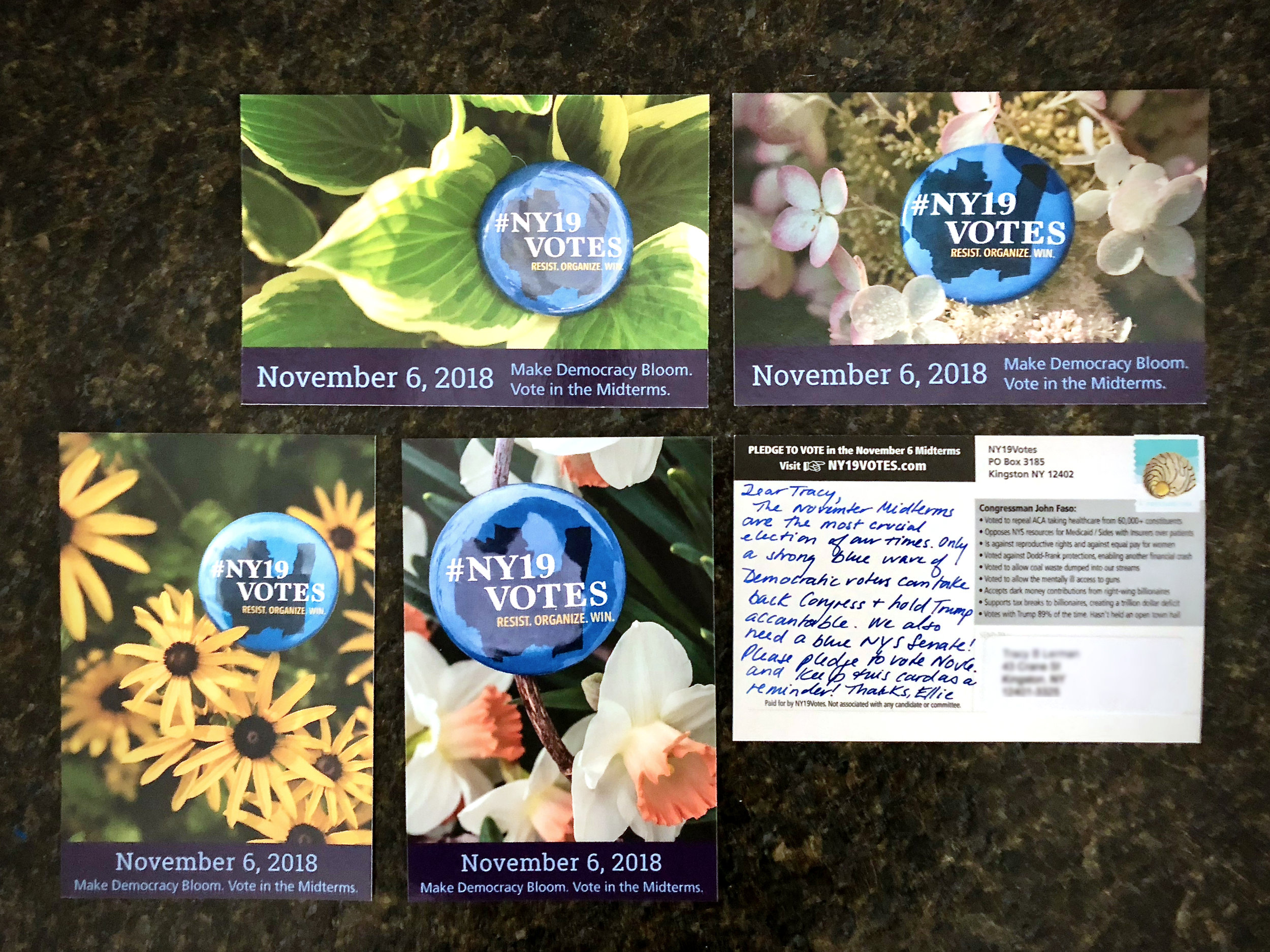 DID YOU GET A HAndwritten POSTCARD? - We need your vote this election, our future depends on it. Please let us know you will be joining us this November 6th by clicking on the Pledge to vote button.