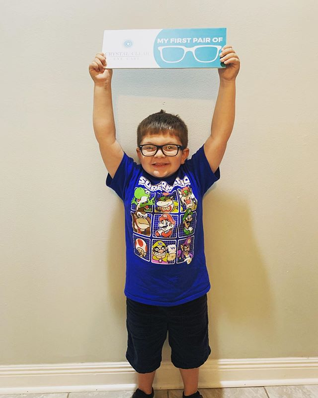 Little Phillip was super excited to see the world through his very first pair of glasses!! These reactions are why we LOVE what we do!!😍😍😍😍