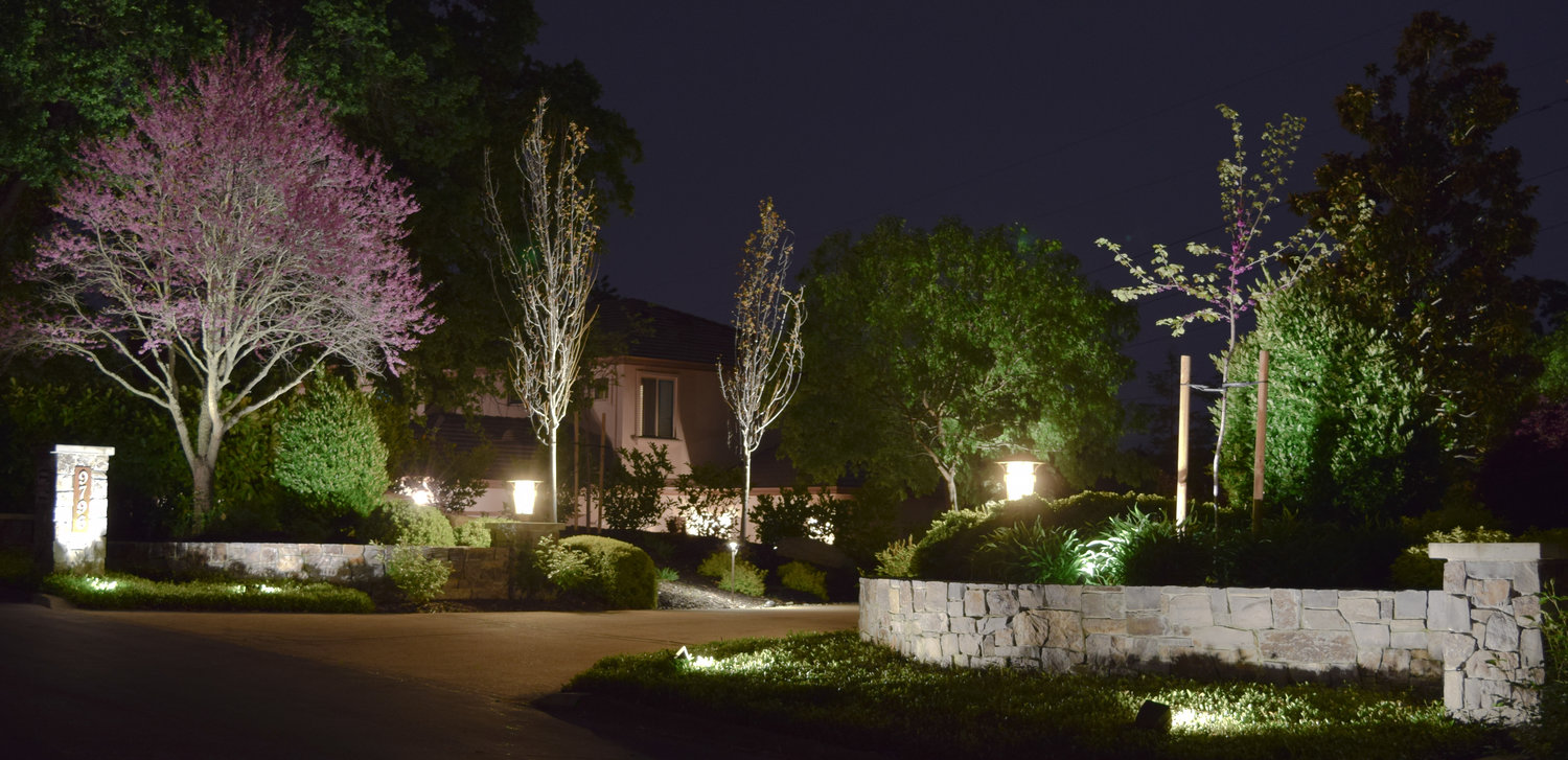 Illuminating a driveway for safety and beauty