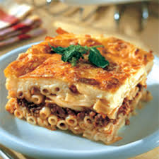Pastitsio (Besamel with makaroni and cow meat)