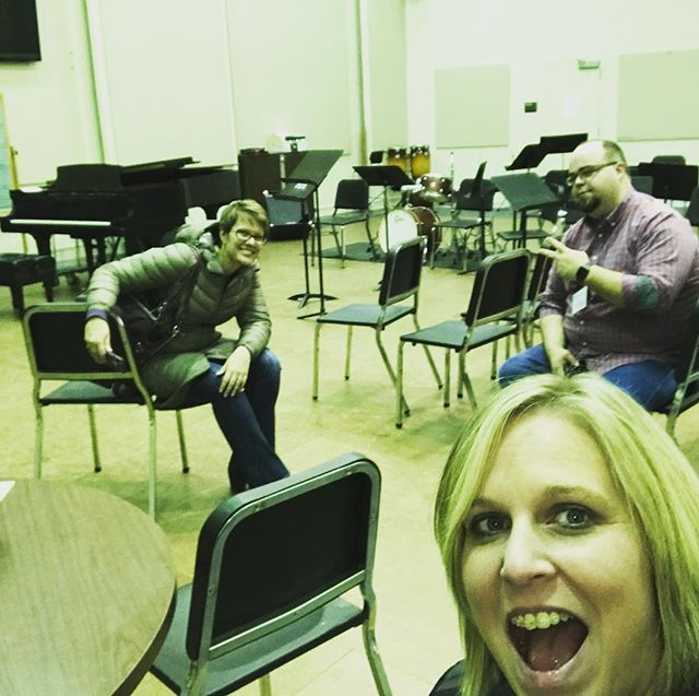 @essimartrio just finished rehearsing for tomorrow's show! Come to Werner Hall at 10:00 am or check out our livestream!!
