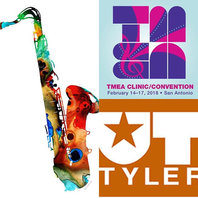 Congrats to our very own @ilikejazz83 for being commissioned by @uttylersaxos to write a piece for their performance @texasmusiceducators!! Come check out the WORLD PREMIERE con Friday at 11:00 am!! #tmea2018 #patriotsaxes #patriotmusic #worldpremiere #chambermusic #commission #saxophone #saxophoning