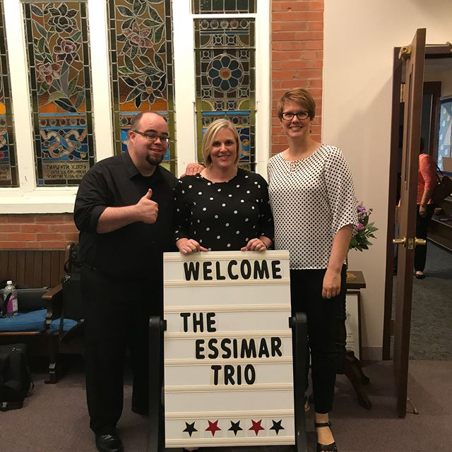 Thank you to Sandy Wisehart and Union Presbyterian Church for hosting us this evening! What a fun recital celebrating 180 years at the church! Thank you to everyone who attended and we can't wait until the next performance back in southeast Iowa!! #chambermusic #recital #newmusic #trumpet #essimartrio #saxophone #flute #piano #organ #music