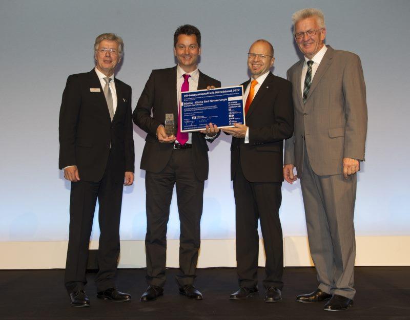 Preisverleihung mit Ministerpräsident Kretschmann