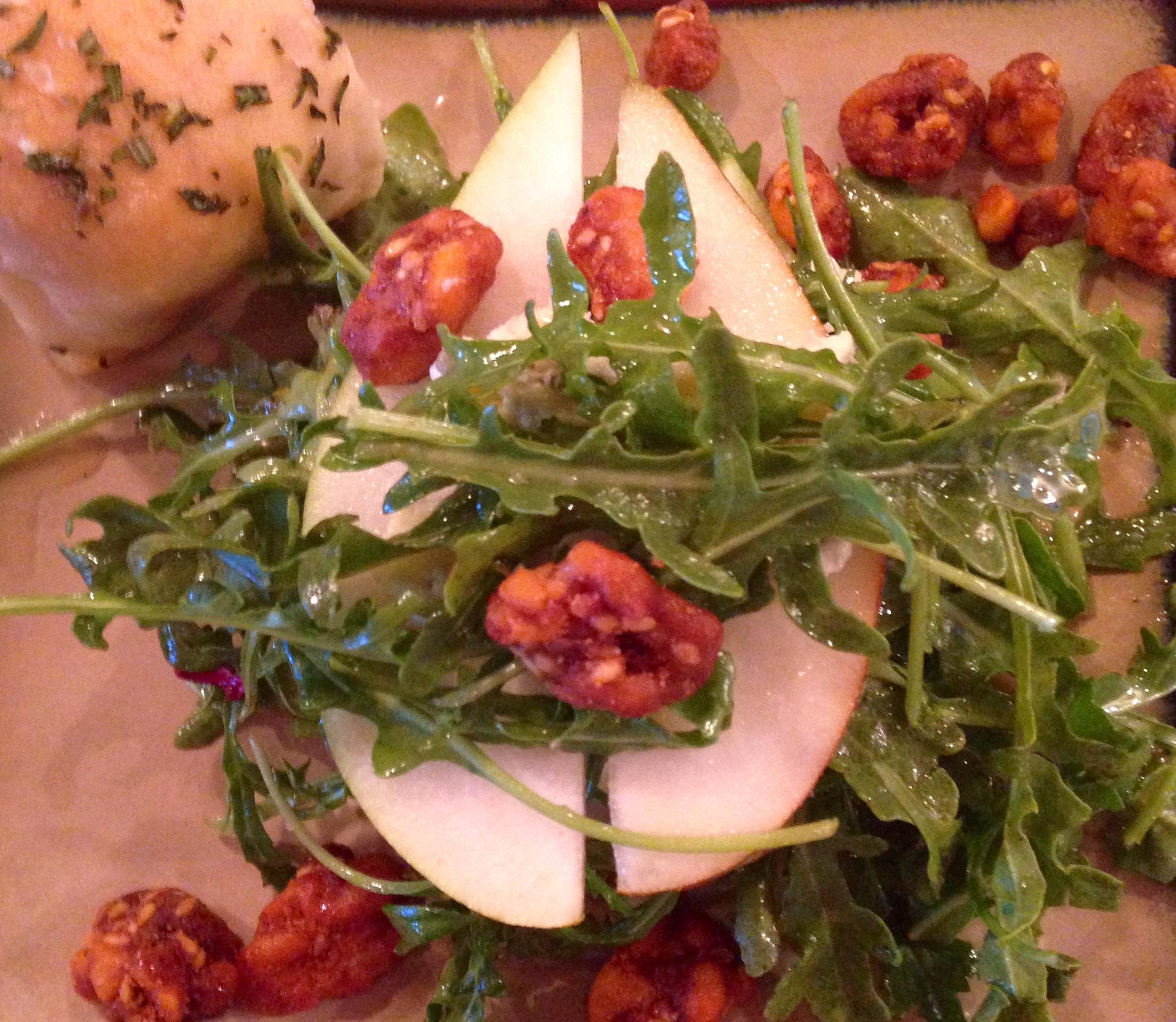 Pear-Arugula Stacked Salad