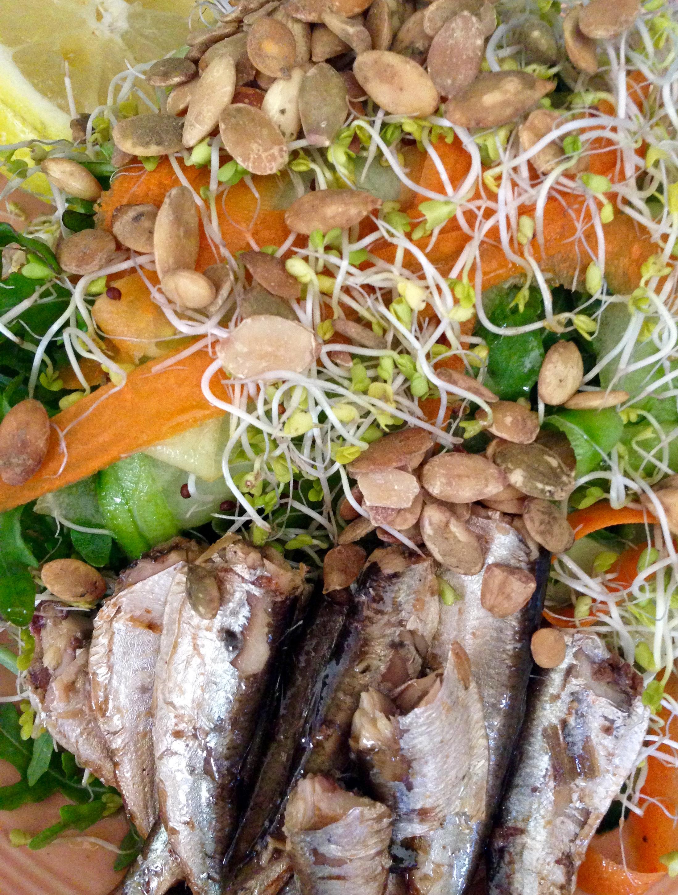 Tangled Sardine Salad