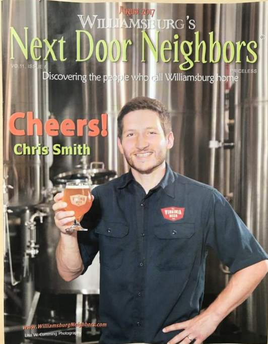 Chris from VA Beer Company on the cover