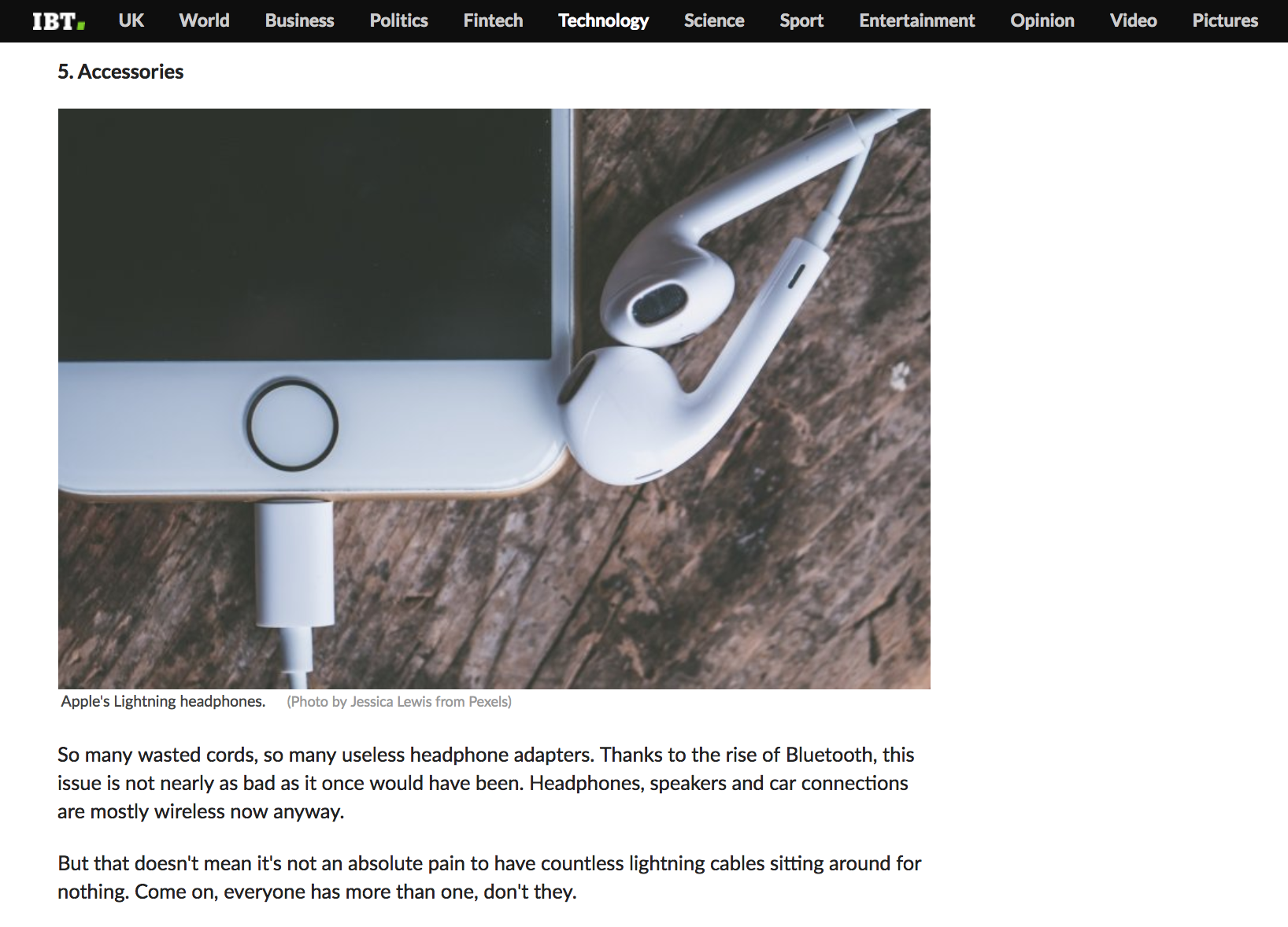 iPhone + Ear Buds with Lightening Connection Stock Image