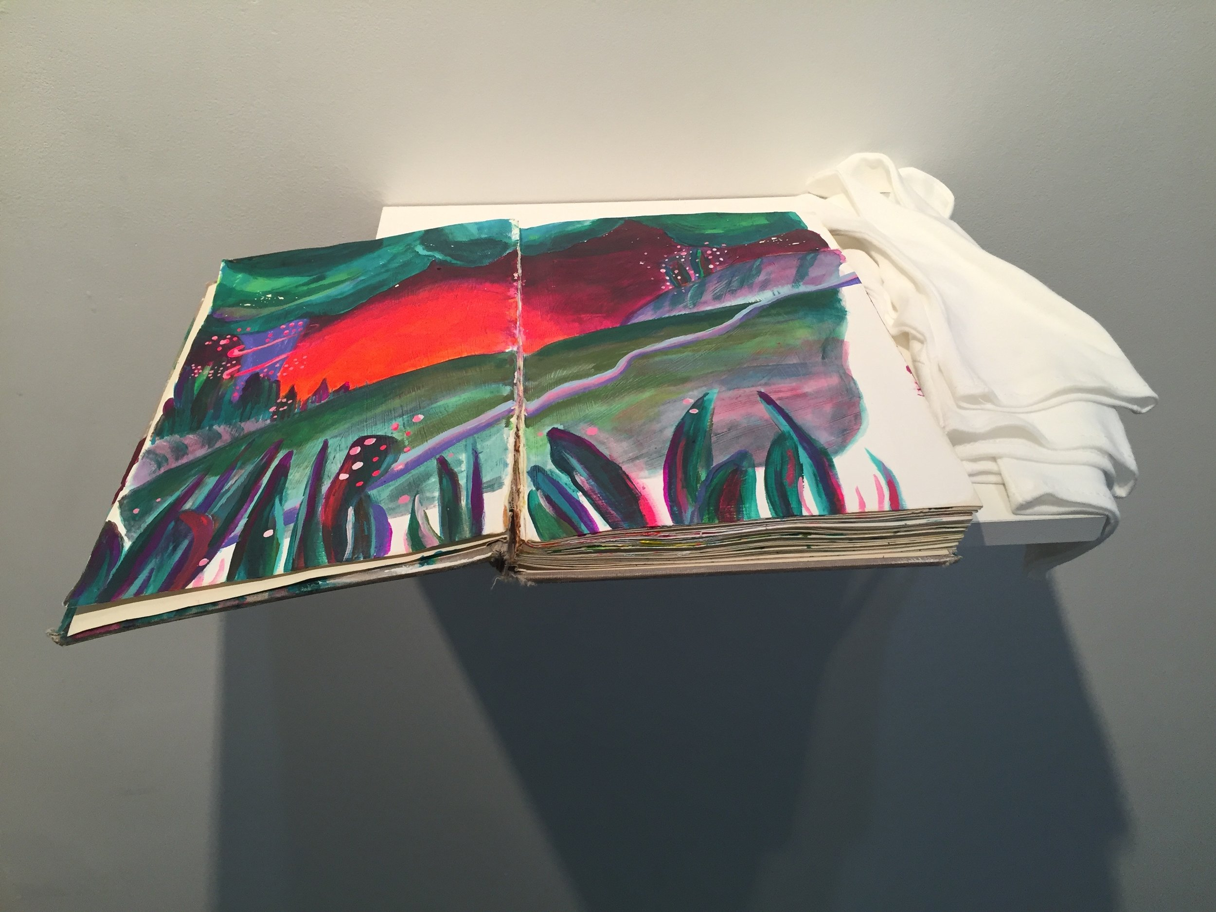 hand painted book