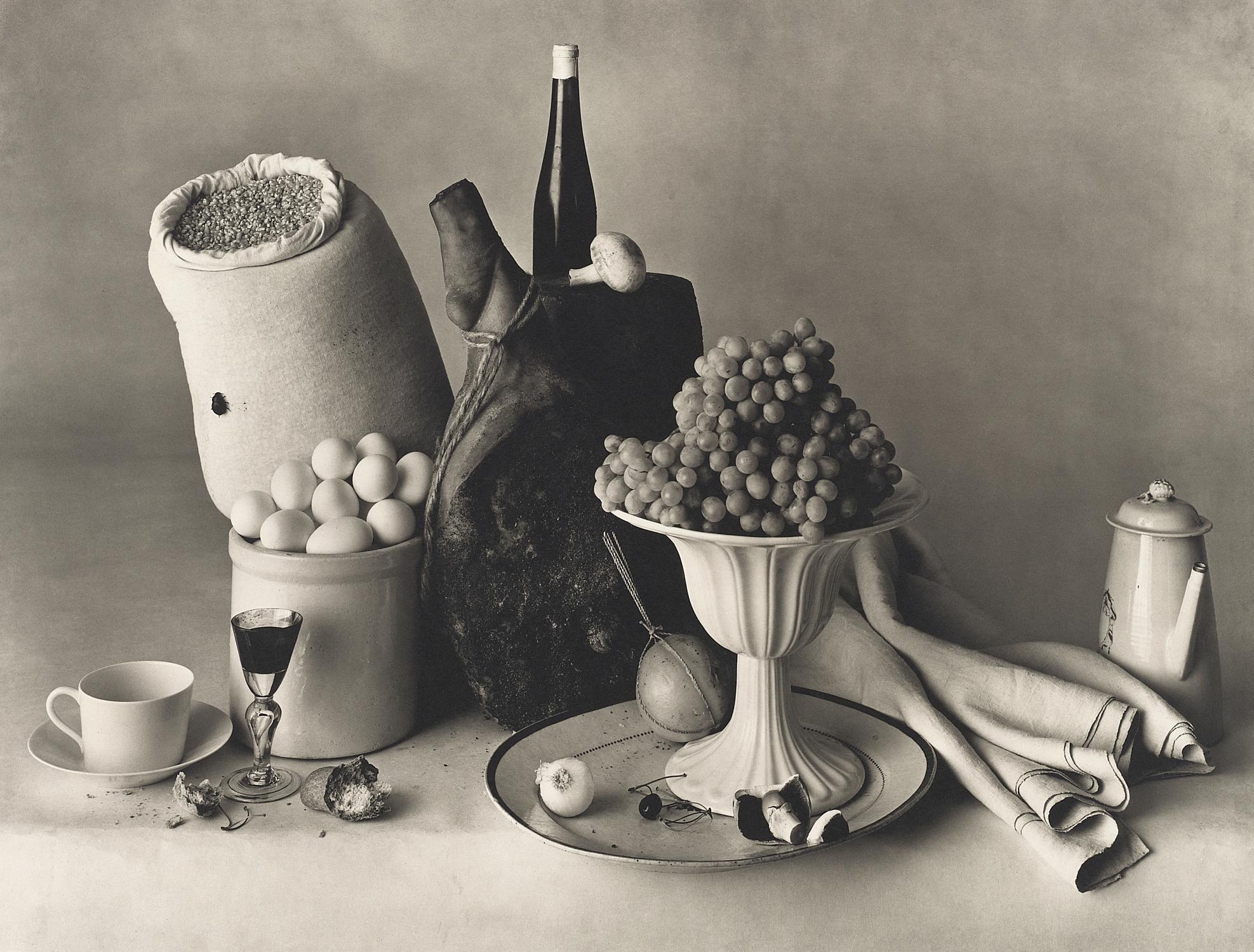 Irving Penn, New York Still Life , 1947. Platinum-palladium print. © Condé Nast