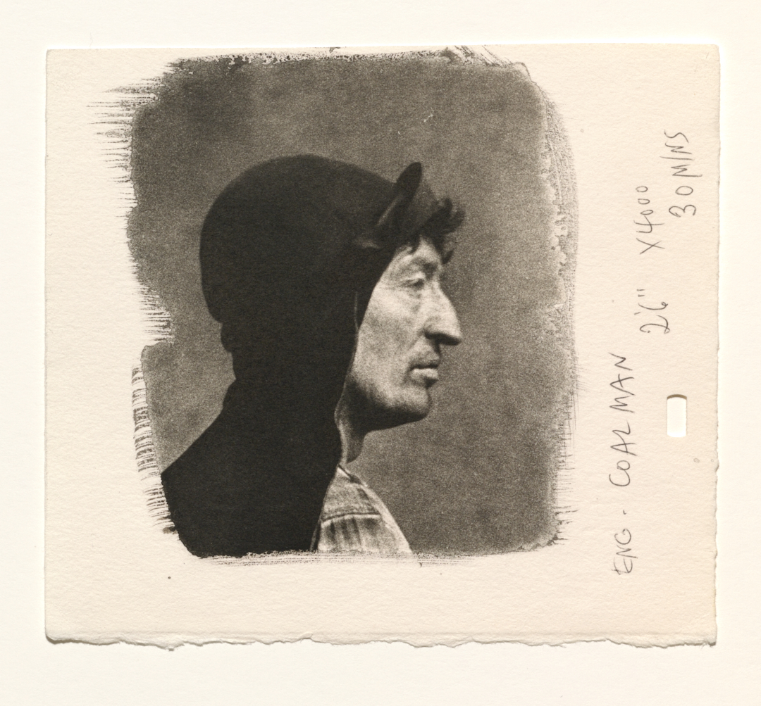 Test fragment of    Coal Man (B) ,  London, 1950. Platinum-palladium print. © The Irving Penn Foundation