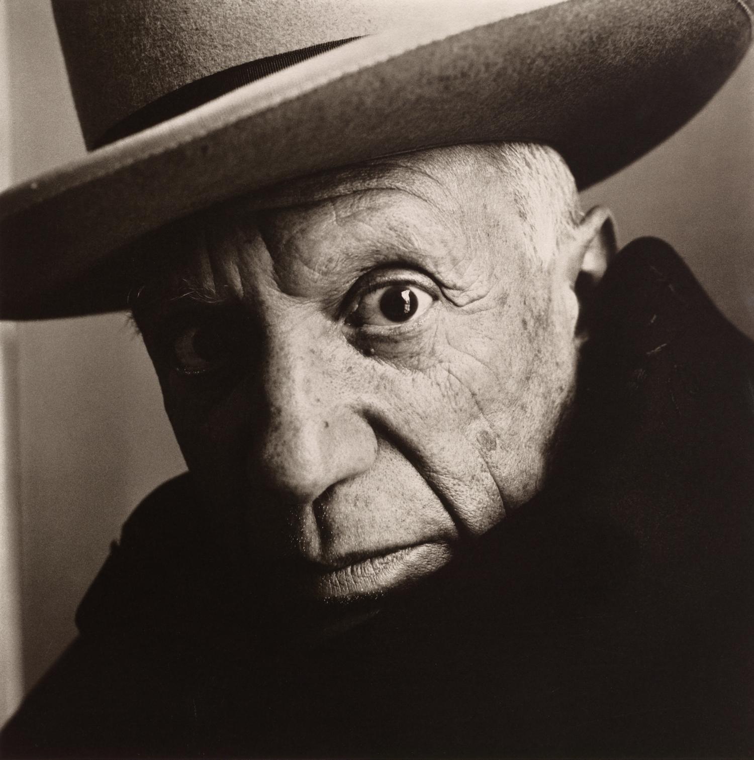 Pablo Picasso at La Californie , Cannes, 1957 Platinum-palladium print © The Irving Penn Foundation