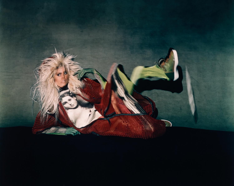 Nadja in Miyake Fashion by Moving Light , New York, 1996 Chromogenic print © The Irving Penn Foundation