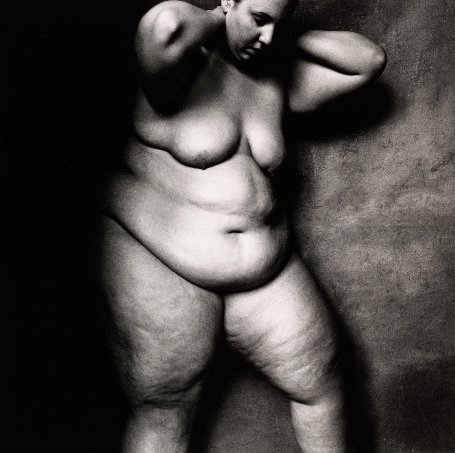 Large Woman Looking Down , New York, 1994 Gelatin silver print © The Irving Penn Foundation