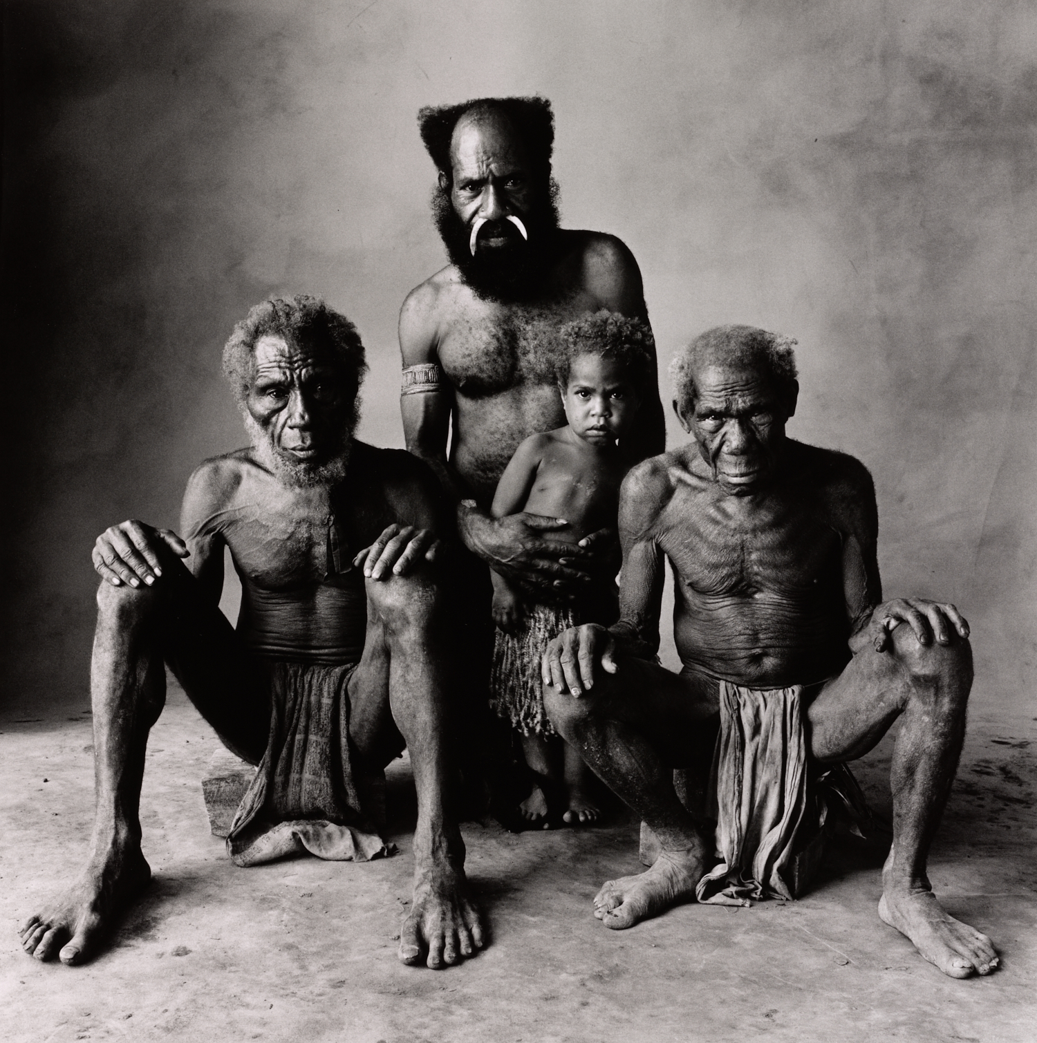 Father, Son, Grandfather, Great-Grandfather , New Guinea, 1970 Gelatin silver print © The Irving Penn Foundation