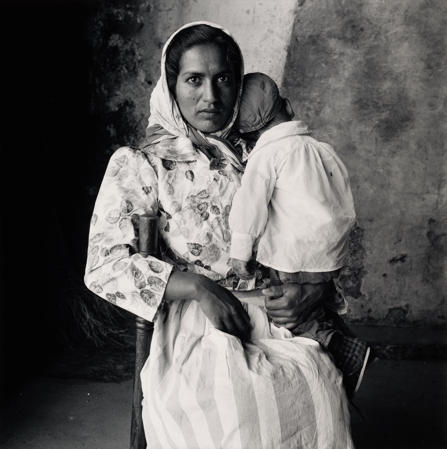 Gypsy Mother Holding Sleeping Child , Extremadura, Spain, 1965 Gelatin silver print © The Irving Penn Foundation