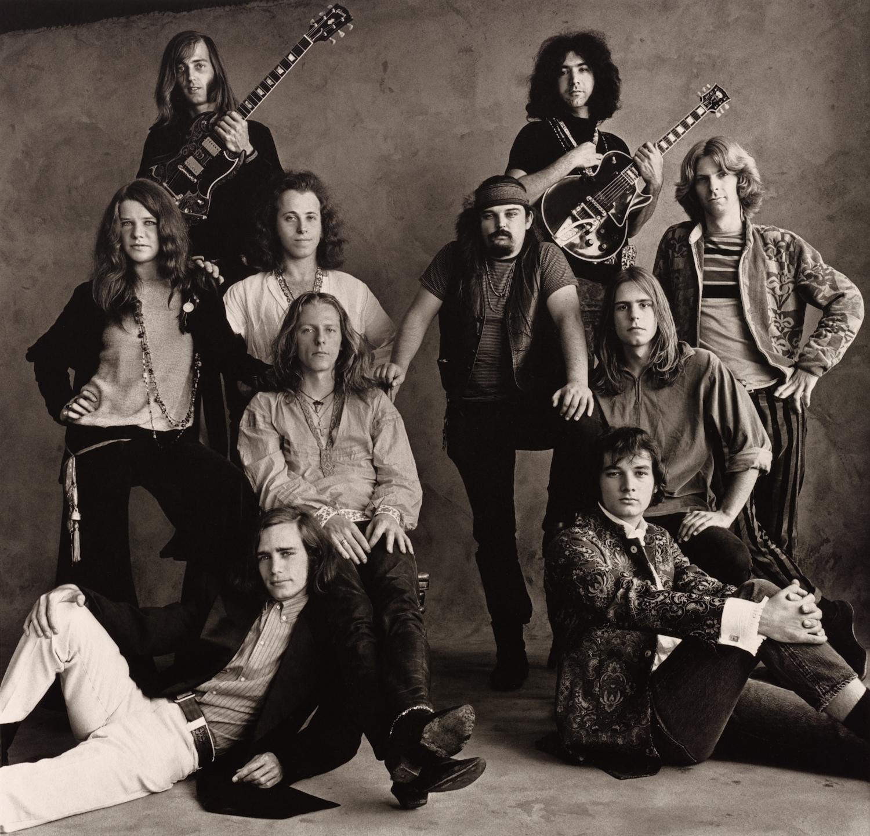Rock Groups , San Francisco, 1967 Platinum-palladium print © The Irving Penn Foundation