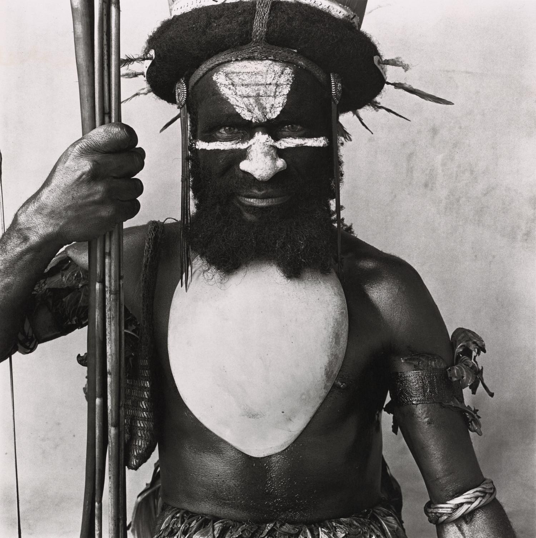 Tambul Warrior , New Guinea, 1970 Platinum-palladium print © The Irving Penn Foundation