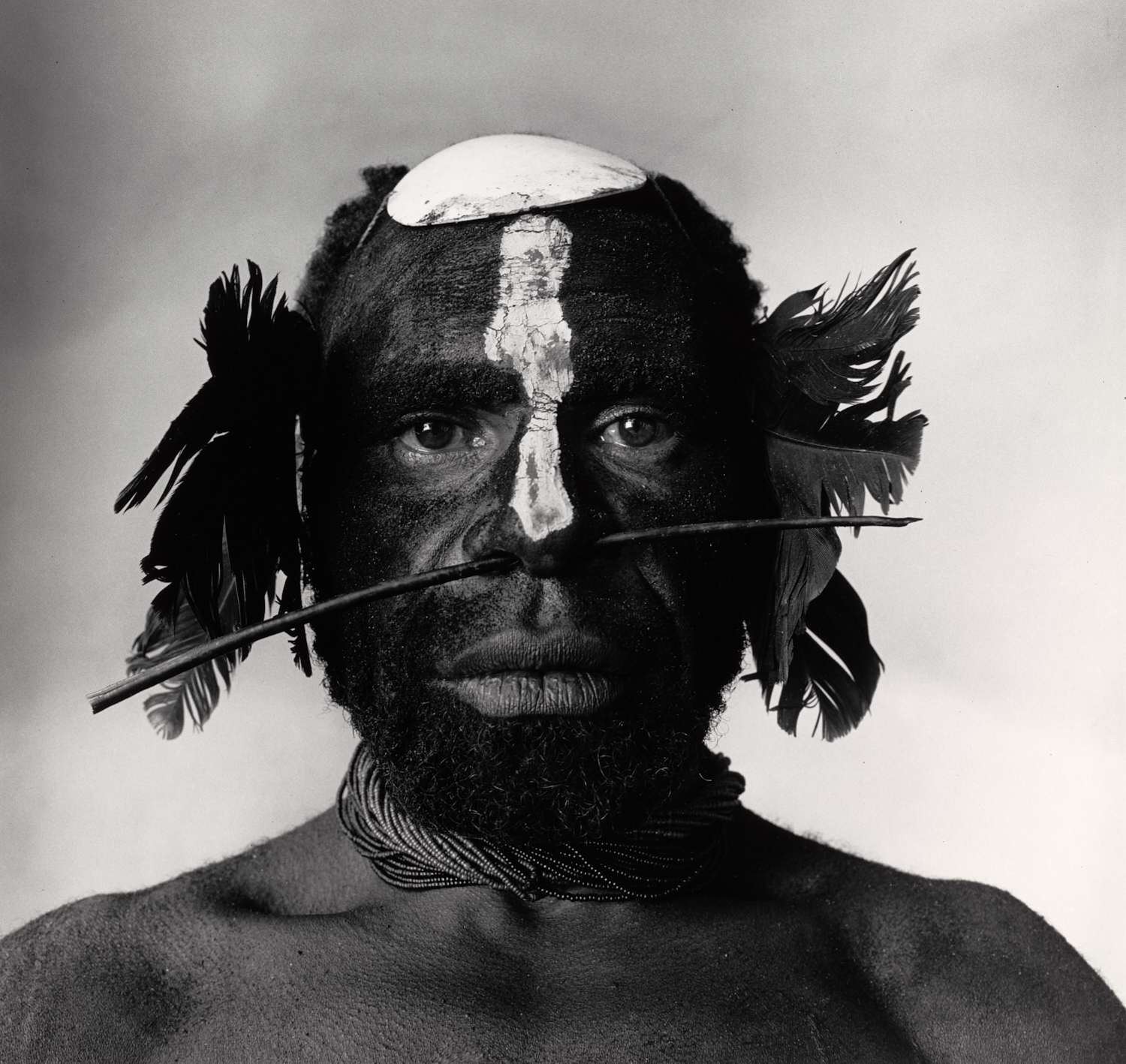 Tribesman with Nose Ornament , New Guinea, 1970 Gelatin silver print © The Irving Penn Foundation