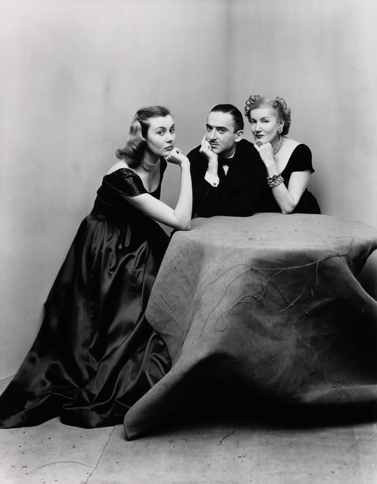 Mr. and Mrs. Alexander Liberman with Francine Du Plessix , New York, 1948 Gelatin silver print © The Irving Penn Foundation