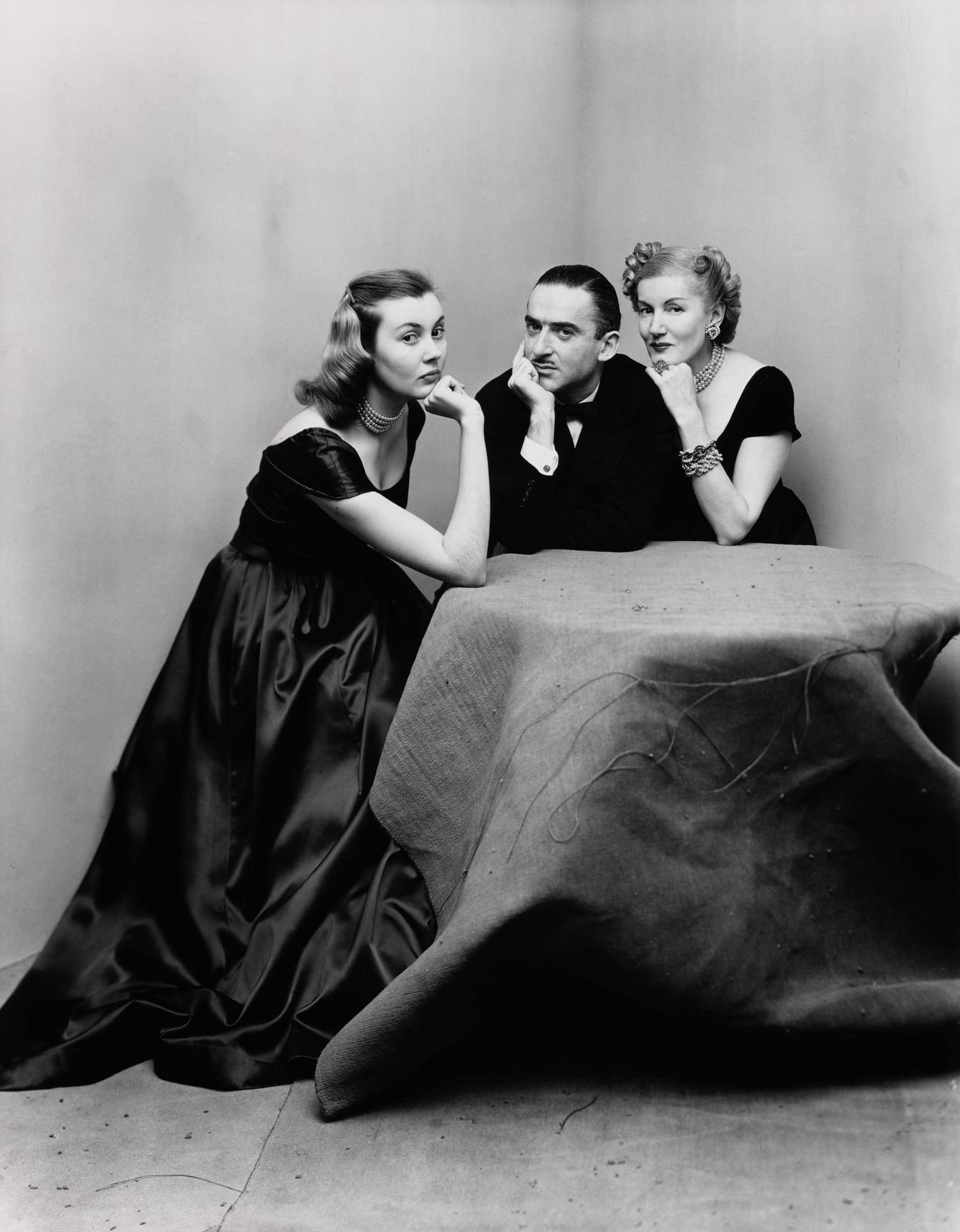 Mr.and Mrs.Alexander Liberman with Francine Du Plessix , New York, 1948 Gelatin silver print © The Irving Penn Foundation