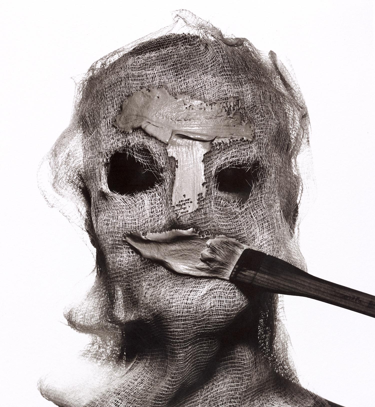 Beauty Treatment with Gauze Mask , New York, 1997 Platinum-palladium print © Condé Nast