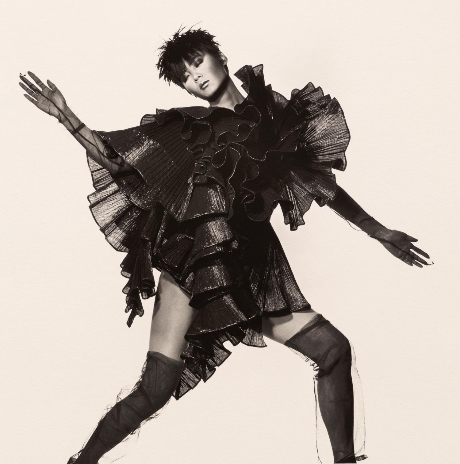 Issey Miyake Seaweed Dress , New York, 1987 Platinum-palladium print © The Irving Penn Foundation