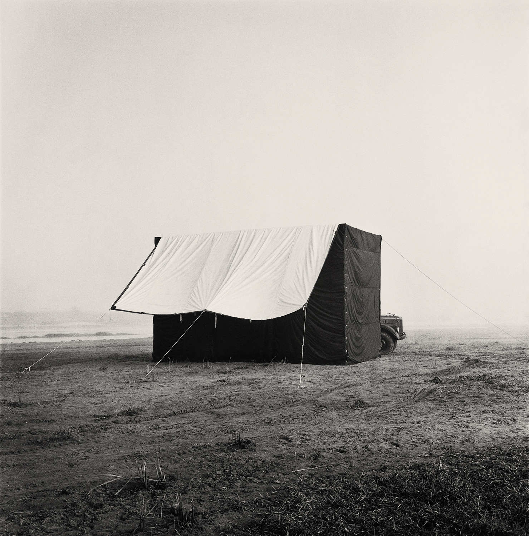 Per Boije,  Irving Penn's portable tent studio , Nepal ,  1967. © The Irving Penn Foundation