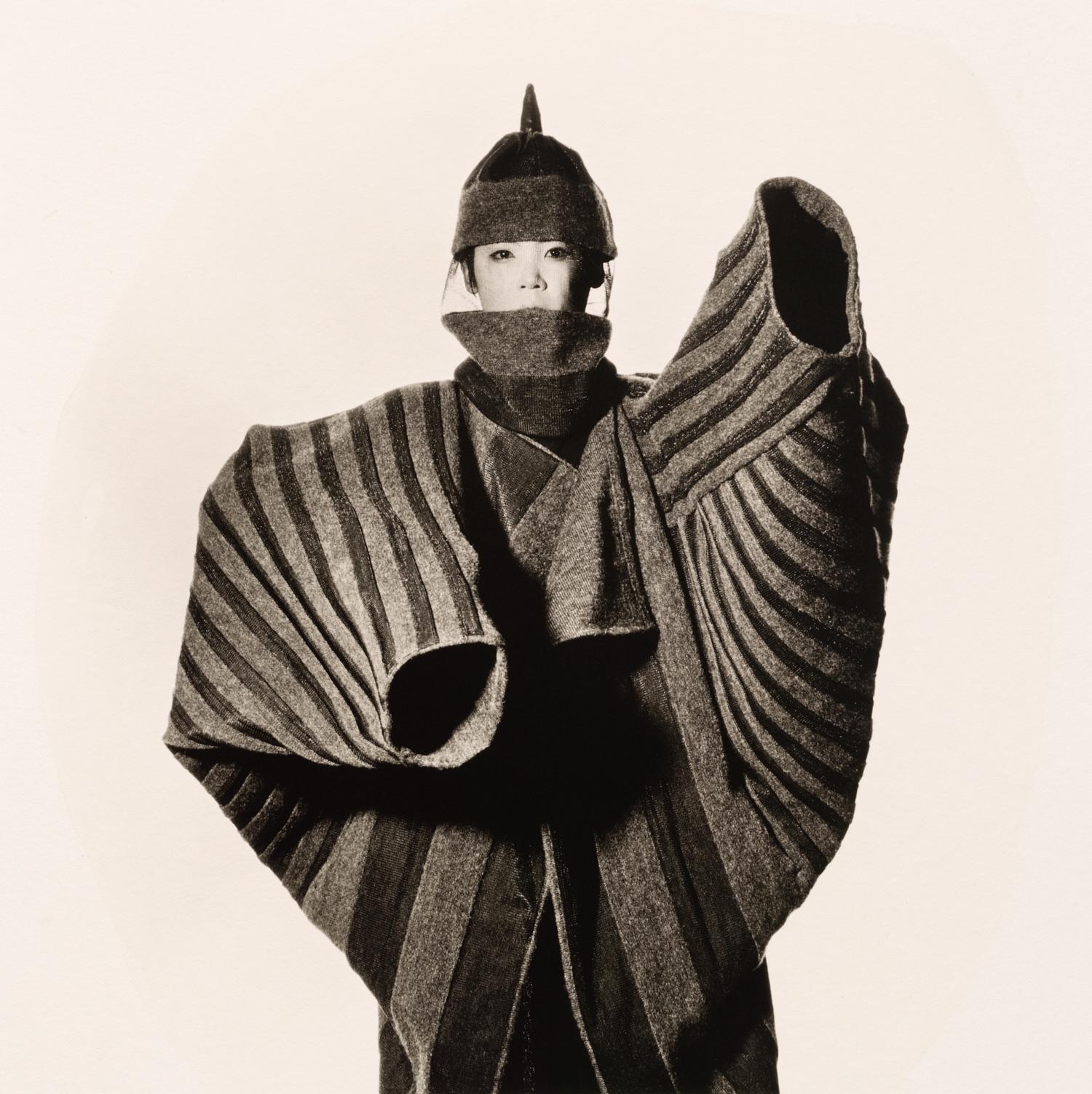 Issey Miyake Onion Flower Bud Coat , New York, 1987 Platinum-palladium print © The Irving Penn Foundation