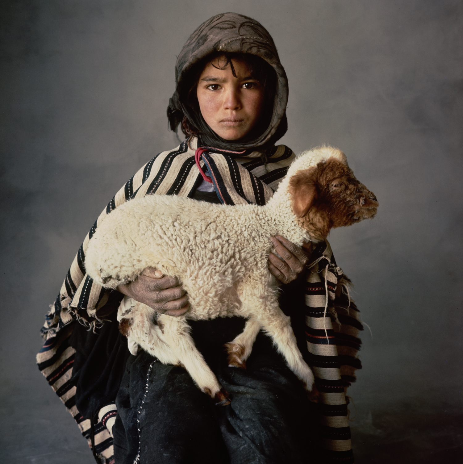 Young Berber Shepherdess (B) , Morocco, 1971 Silver dye bleach print © The Irving Penn Foundation