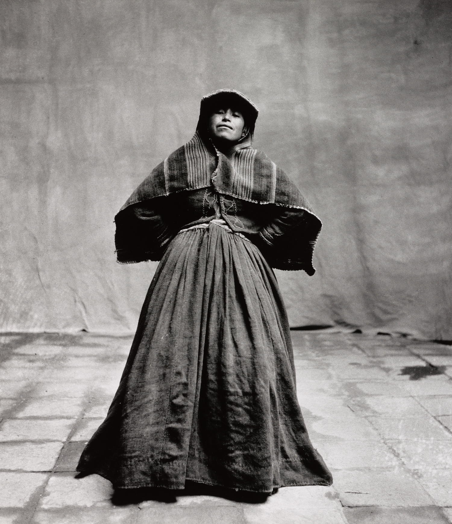 Many Skirted Indian Woman , Cuzco, 1948 Gelatin silver print © The Irving Penn Foundation