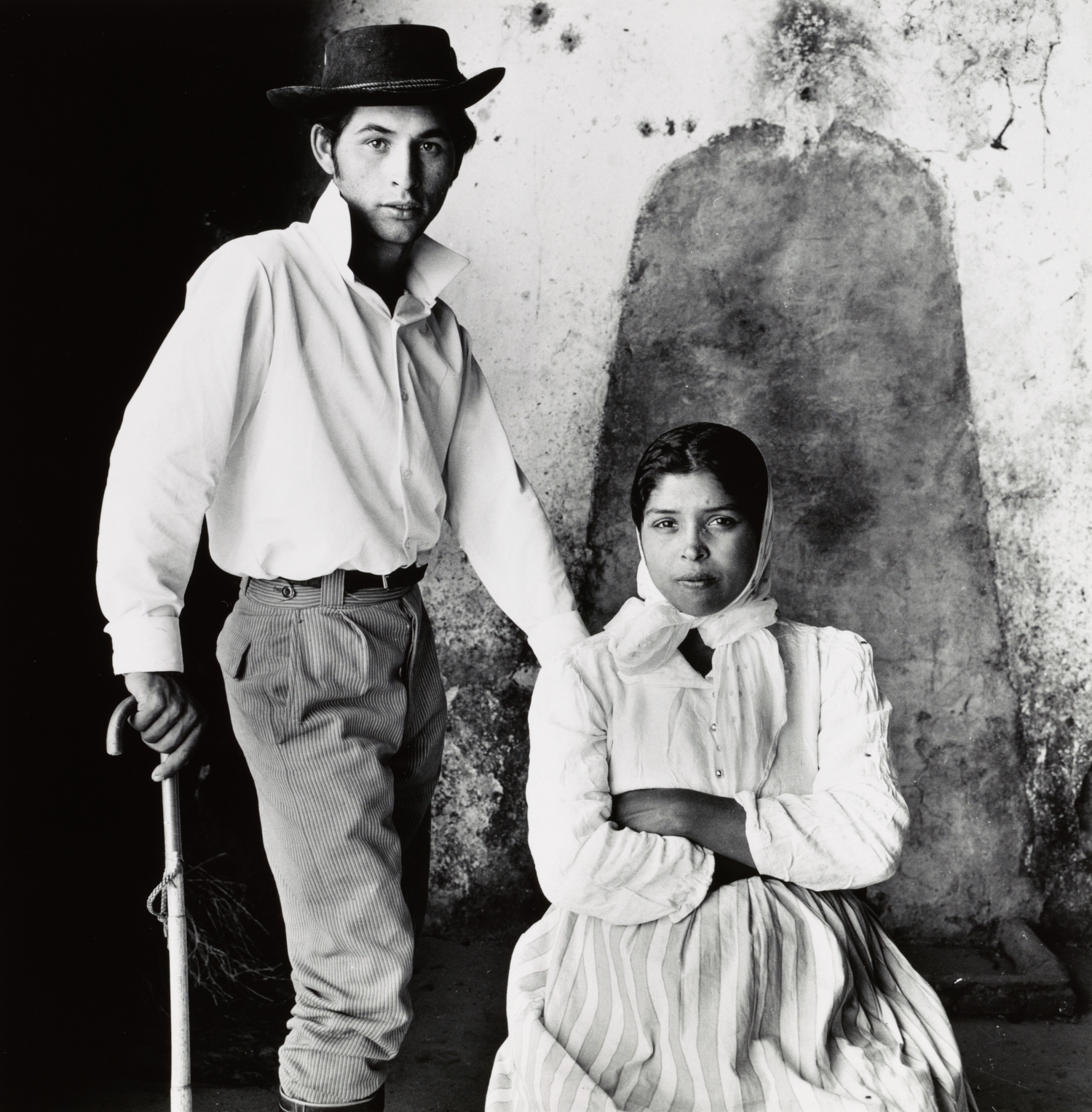 Young Gypsy Couple , Extremadura, Spain, 1965 Gelatin silver print © The Irving Penn Foundation