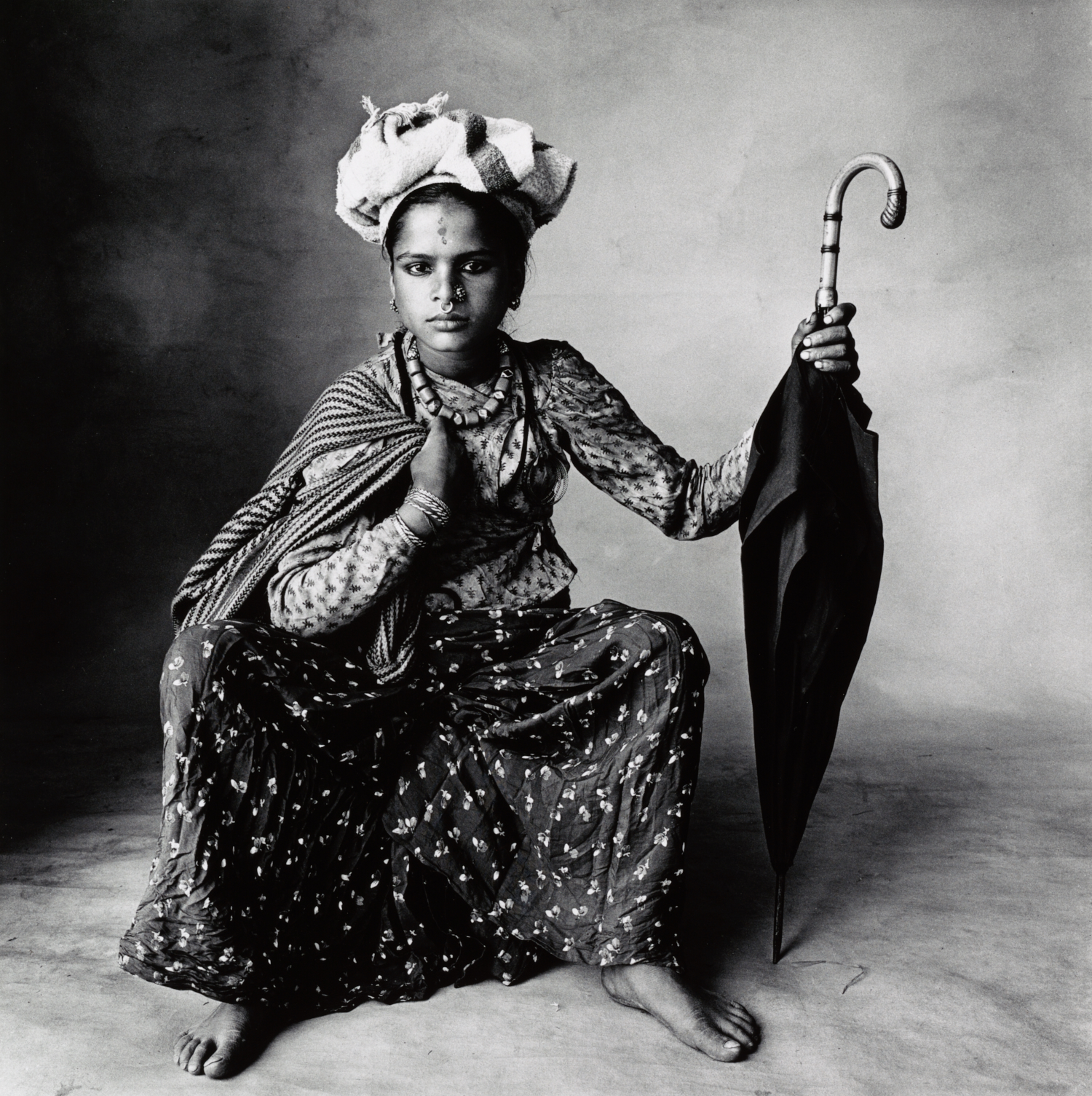 A Young Chhetri Woman , Nepal, 1967 Gelatin silver print © The Irving Penn Foundation