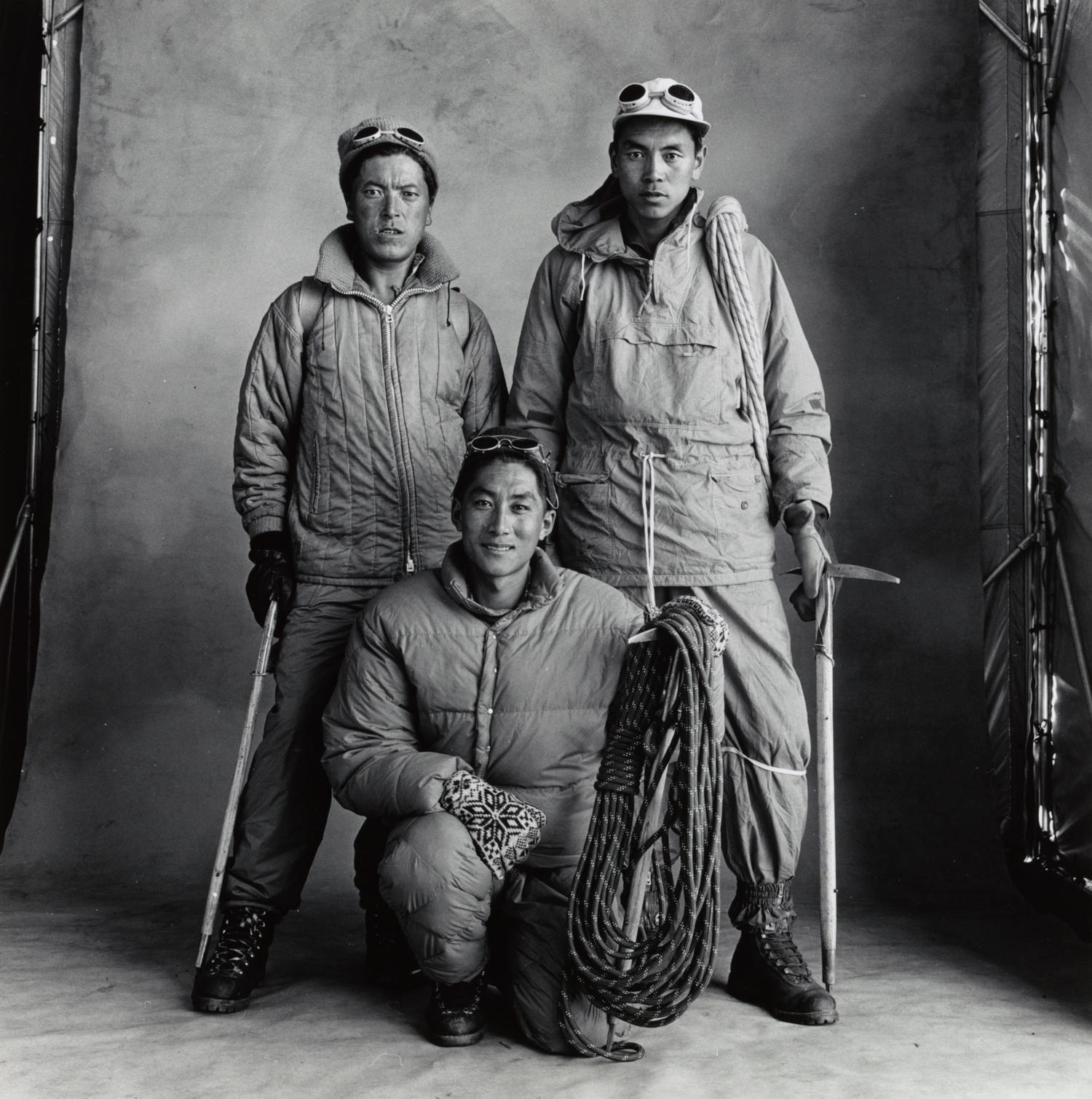 Three Sherpa Climbers , Nepal, 1967 Gelatin silver print © The Irving Penn Foundation