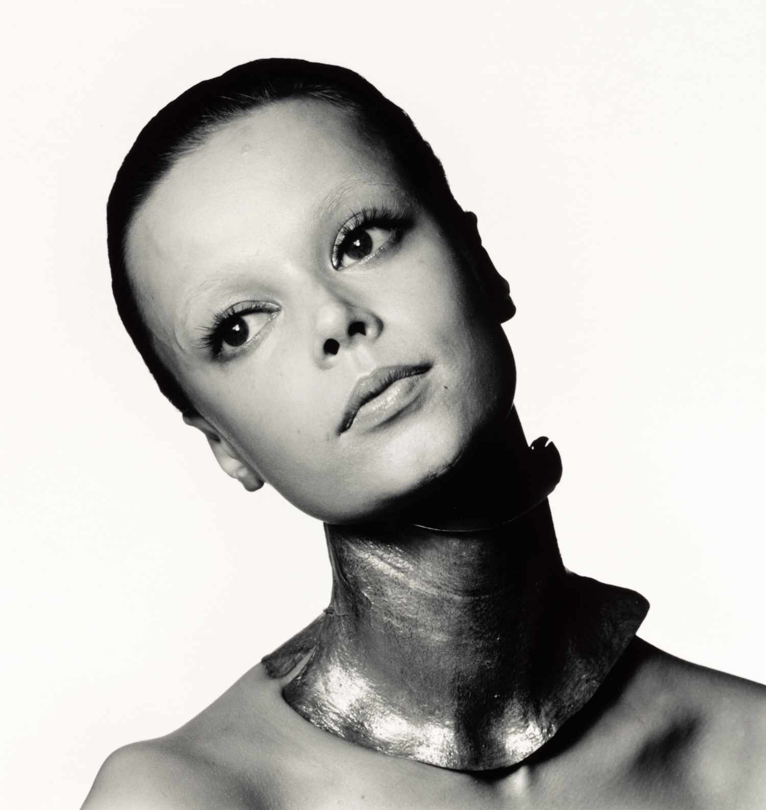 Mouche with Gold Neck Band , Paris, 1969 Gelatin silver print © The Irving Penn Foundation