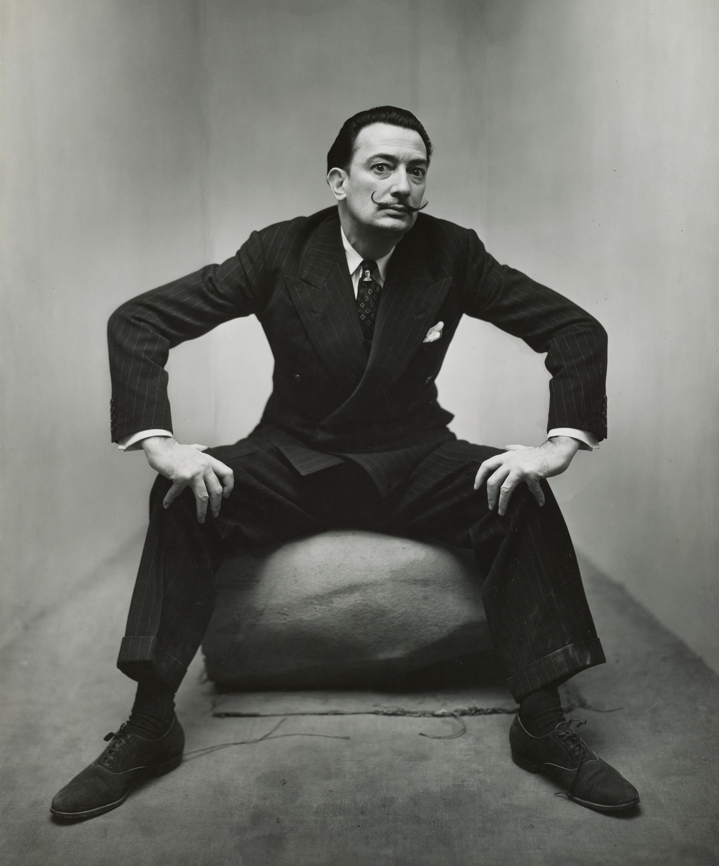 Irving Penn,  Salvador Dalí  ,  New York, 1947  ©  The Irving Penn Foundation