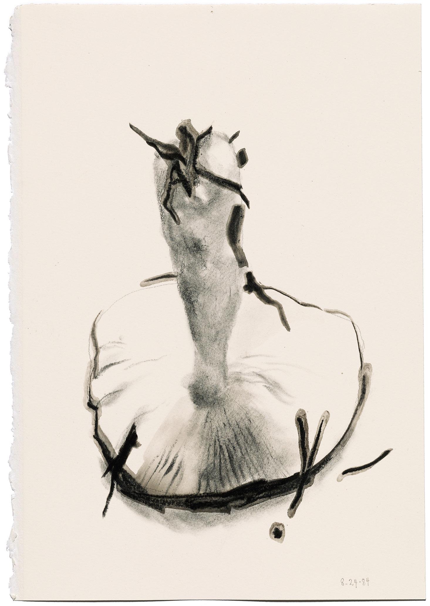 Irving Penn,  Mushroom , 1984. Charcoal on paper. © The Irving Penn Foundation