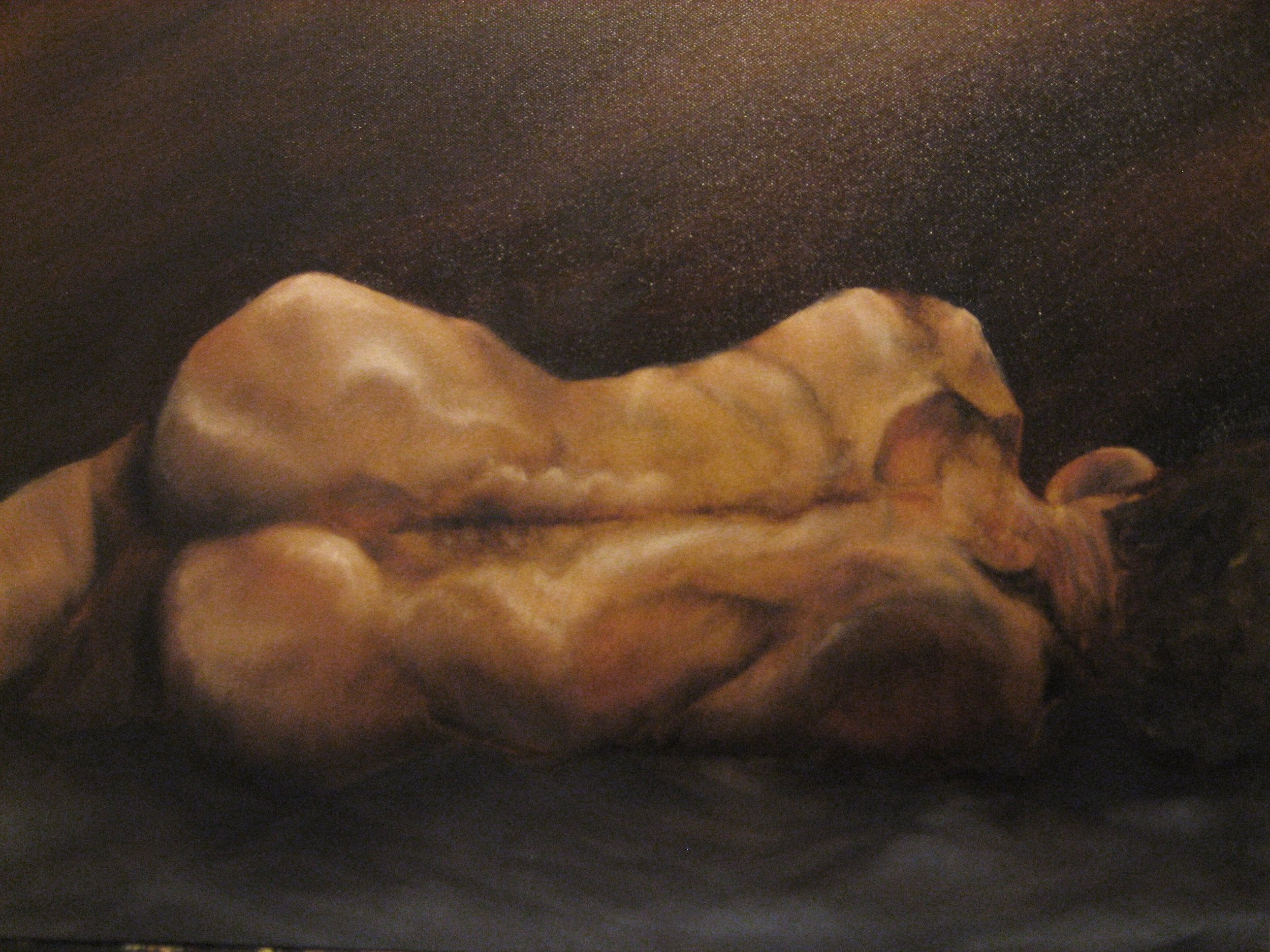 McGee, Brenna - Nude Male at Rest 16x20.JPG