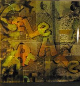 Muntus, A. Graffiti collage 150mm h x 150w x 9d Made 2017  Photo A Muntus.jpg