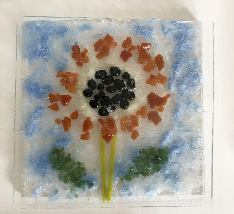 Sunflower before fusing