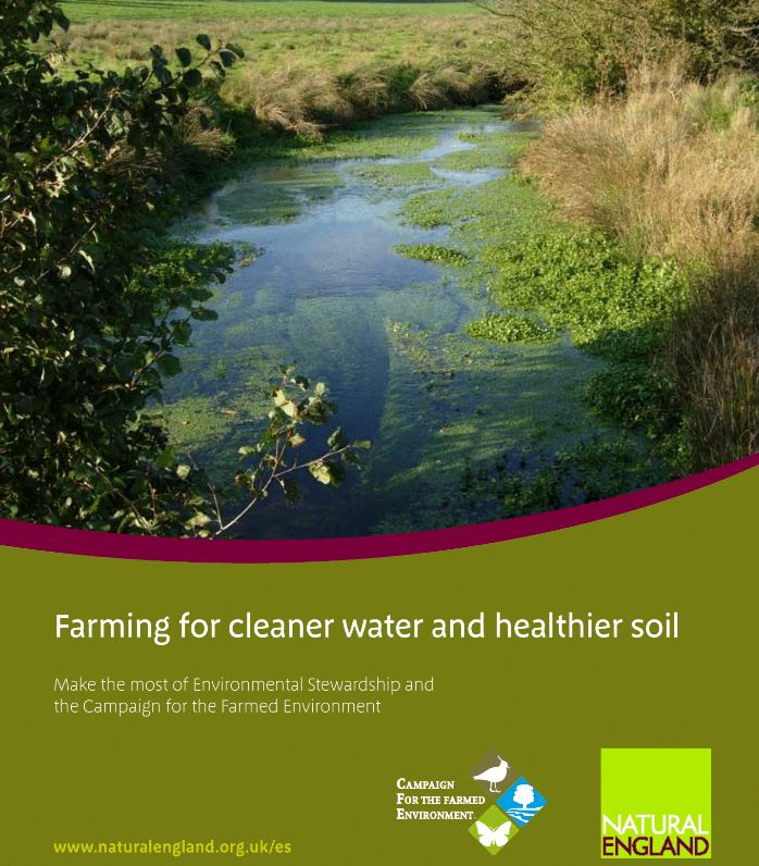 Farming for cleaner water and healthier soil    Natural England  2009   Erosion and runoff can result in valuable nutrients and environmentally damaging sediments, pesticides and dangerous disease organisms reaching water.