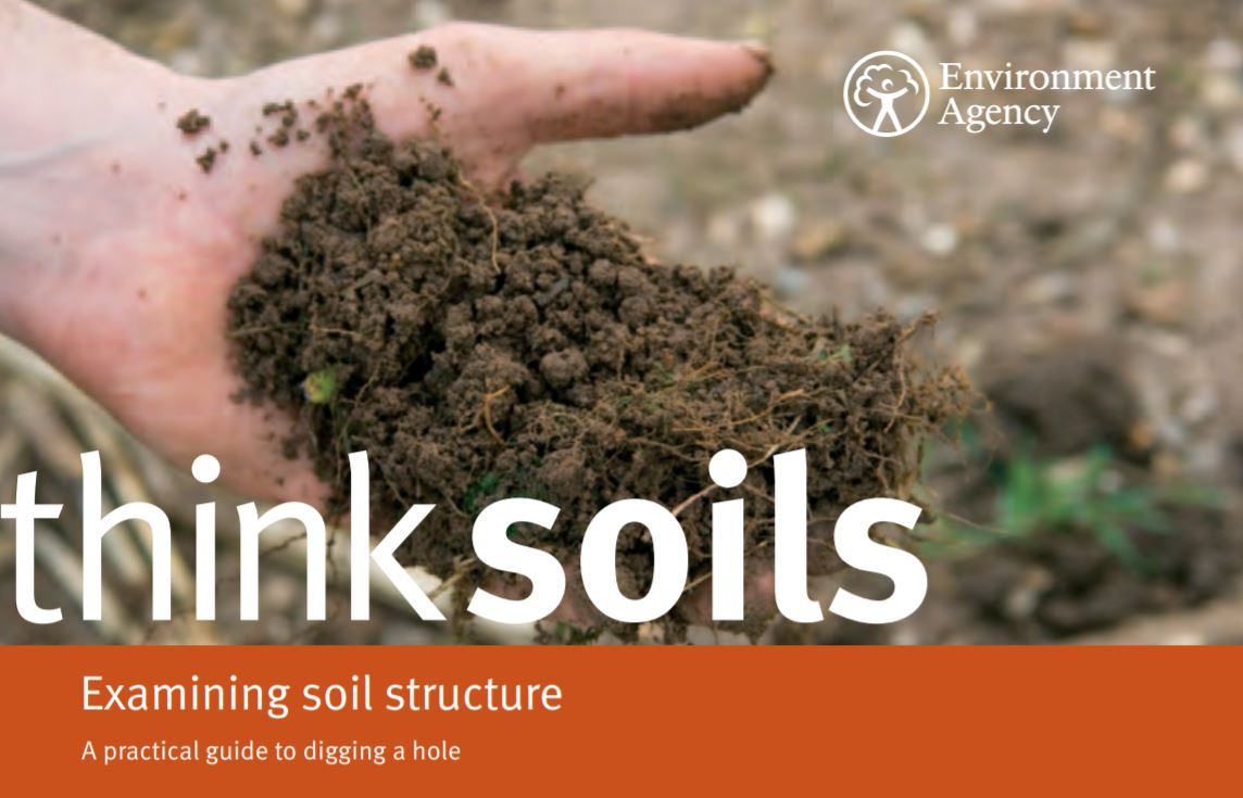Think Soils: Examining soil structure    Environment Agency  February 2010   Diagnosing the state of soils isn't always easy. Soil condition can vary considerably across a field and at different depths, and can vary throughout the year depending on land management.