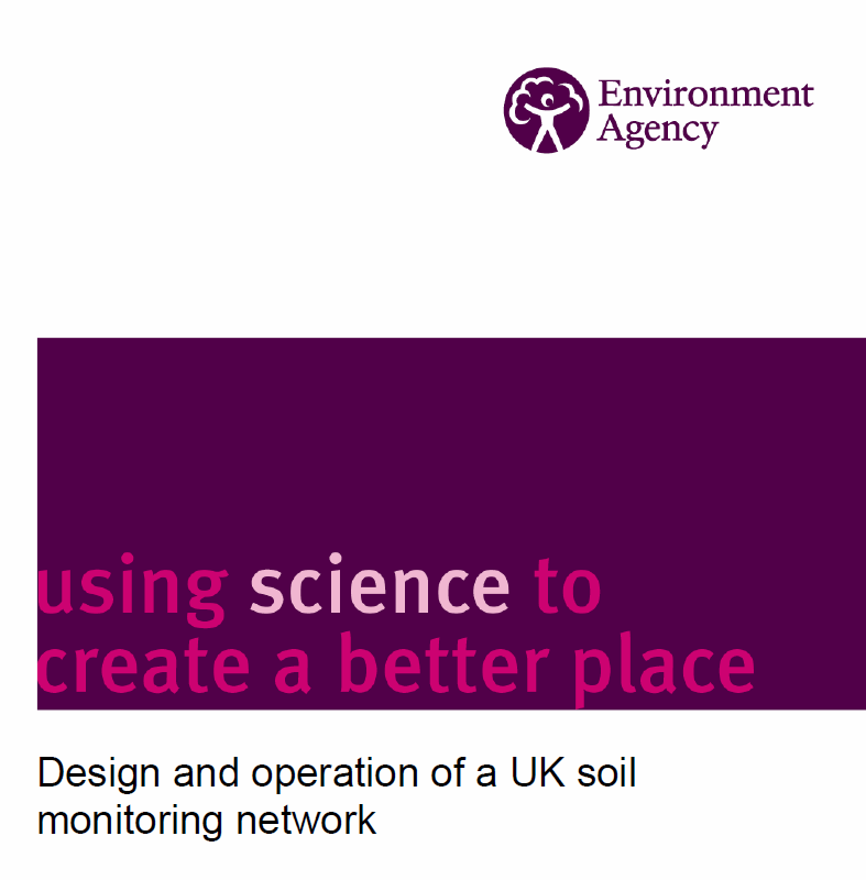 Design and Operation of a UK Soil Monitoring Network    Environment Agency  2008   Since 2003, the UK Soils Indicator Consortium has been working to develop a set of indicators of soil function that will allow us to monitor current status & change in soil quality.
