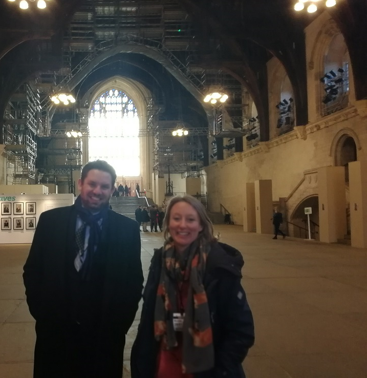 Directors Ellen Fay and Matthew Orman at the House of Lords, January 2019