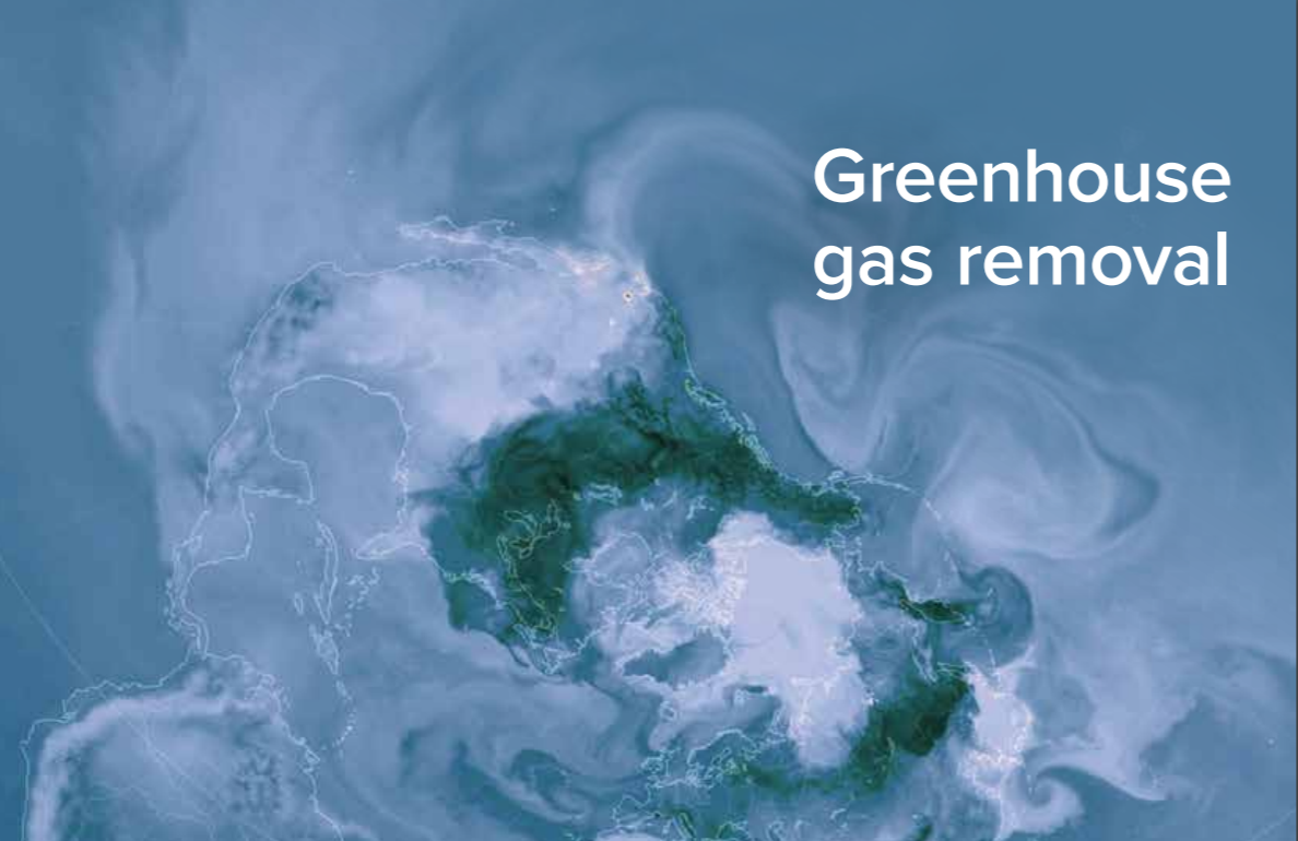 Greenhouse Gas Removal    The Royal Society / Royal Academy of Engineering  September 2018   Draws on a breadth of expertise to identify the range of available greenhouse gas removal methods, the factors that will affect their use & how they may be deployed together to meet climate targets.