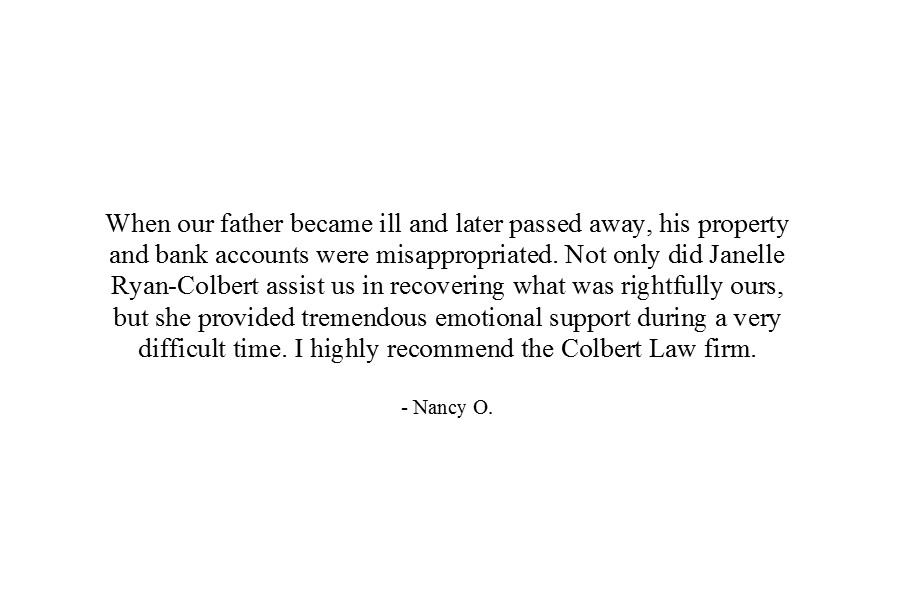 Colbert Law Firm - Janelle Ryan Colbert - Prince Georges County Maryland Attorney - Client Testimonial 2.jpg